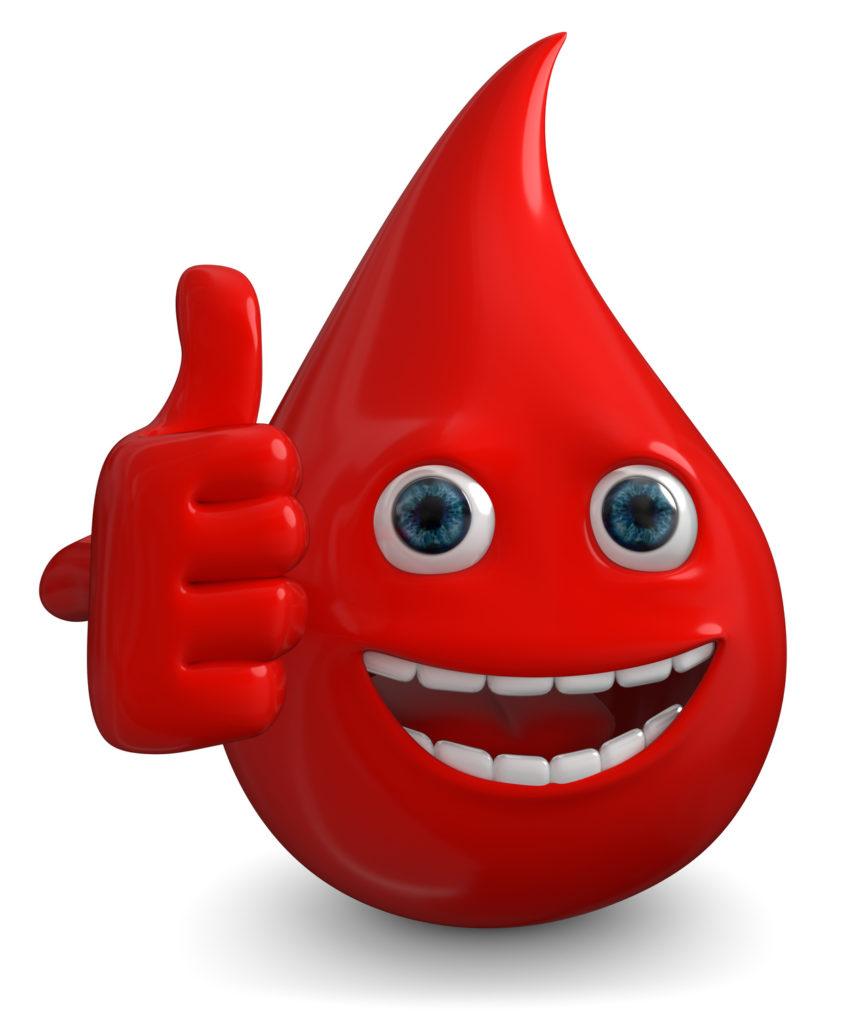 Ab zur Blutspende, nur ein Tropfen von deinem Blut kann leben retten.